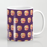 low poly Mugs featuring Mc Whopper Low Poly by Happy Motion