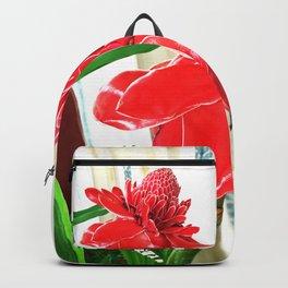 Torch Ginger Flower Backpack