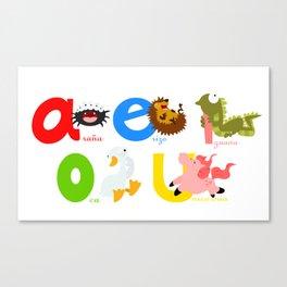 Vowels (spanish) Canvas Print