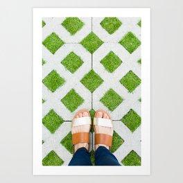 Happy Feet Art Print