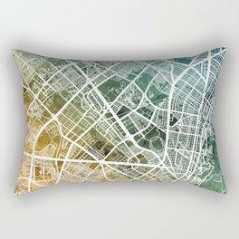 Bogota Colombia City Map Rectangular Pillow