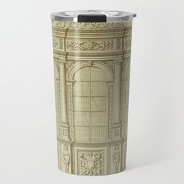 Classical Library Architecture Travel Mug