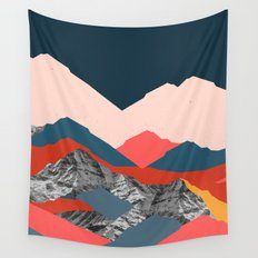 Graphic Mountains X Wall Tapestry