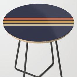 Vintage Retro Stripes Side Table