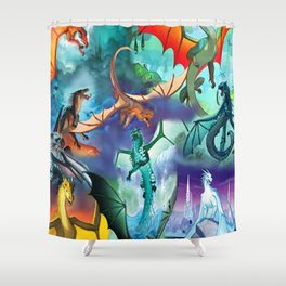 Wings-Of-Fire all dragon Shower Curtain