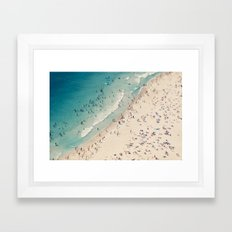 beach love V Framed Art Print