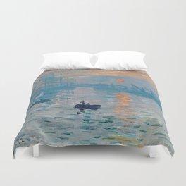 Claude Monet Impression Sunrise Duvet Cover