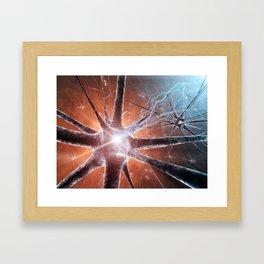 Neurons Framed Art Print