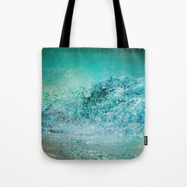Turquoise Wave - Blue Water Scene Tote Bag
