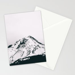 Mount Hood Black and White II Stationery Cards