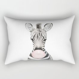 Bubble Gum Zebra Rectangular Pillow
