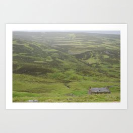 A Lone Bothy in the Highlands Art Print