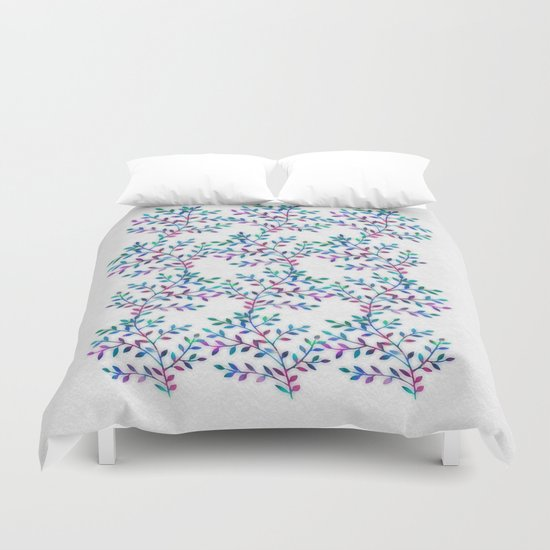 Small, Colorful Leaves 2 Duvet Cover