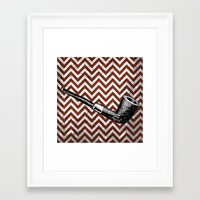 arsenal Framed Art Prints featuring Gentleman's Arsenal - The Pipe by Ashley Anonymous