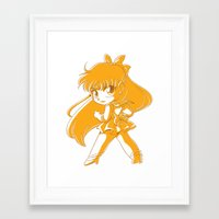 sailor venus Framed Art Prints featuring Sailor Venus by TheLoreFactory