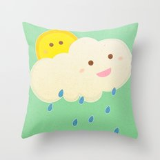 Raining day Throw Pillow