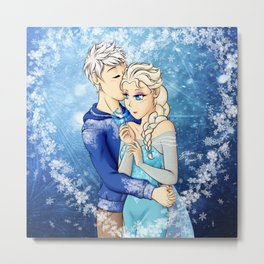 Jack frost x Elsa Metal Print