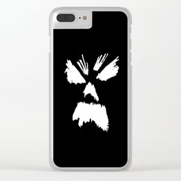 NECRONOMICON (white) Clear iPhone Case