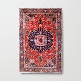 Farahan Arak West Persian Rug Print Metal Print