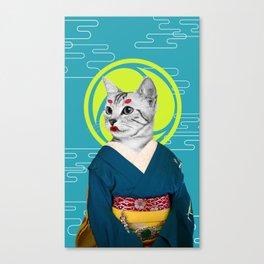 Geisha Cat Canvas Print