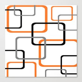 Geometric Rounded Rectangles Collage Orange Canvas Print