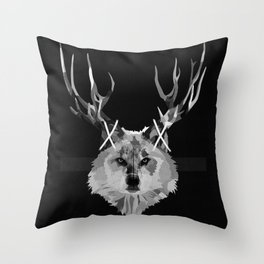 I Can't Hear You Cry Wolf Throw Pillow