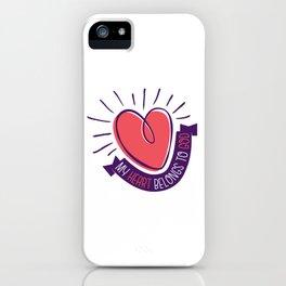 My Heart Belongs to God iPhone Case