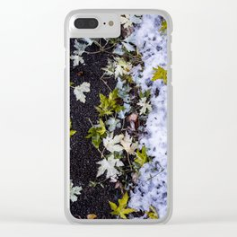 Fall Meets Winter Clear iPhone Case