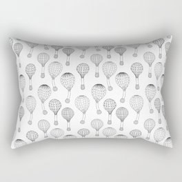 Hot Air Balloons in Black and White Rectangular Pillow