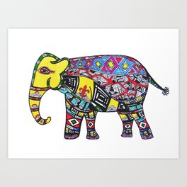 Fleur de Elephant  Art Print