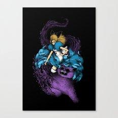 Alice & The Wildcat Canvas Print