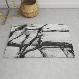 Limestone pavement in the Burren, Ireland Rug