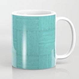 Turquoise Blue Faux Bois Wood Pattern Coffee Mug