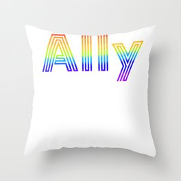 Straight Ally design For LGBT Pride Supporters Throw Pillow