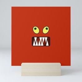 Funny monster face Mini Art Print