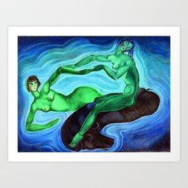 odissey lake Art Print