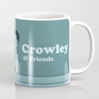 garfield Mugs featuring Crowley & Friends - Supernatural by Justyna Rerak