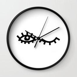 Eyelash Wishes Wall Clock