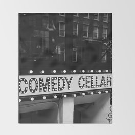 New York Comedy Cellar Throw Blanket