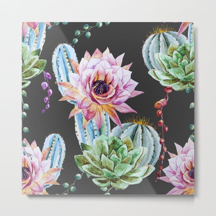 Cactus Pattern 10 Metal Print