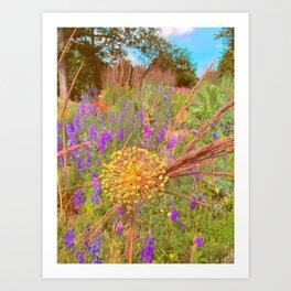 Summer Garden Scene Art Print