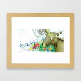 """Illustration for the kids book """"Small White"""" 4 Framed Art Print"""