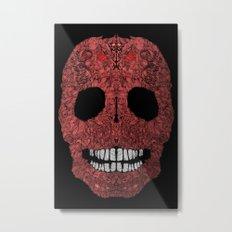 Skull No.8 Chagrin Metal Print