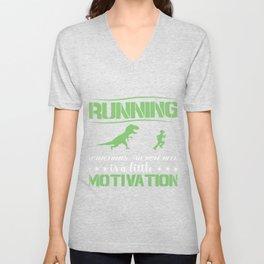 Race Motivation Dinosaur Lusitg Gift Unisex V-Neck