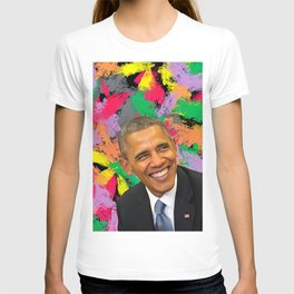 Barack Obama - Celebrity Art (Positive Thinker) T-shirt