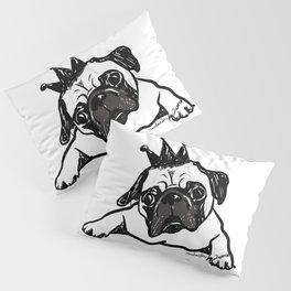 King Pug Pillow Sham