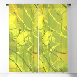 Citric abstract Blackout Curtain