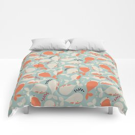 Whales 003 Comforters