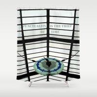 oscar wilde Shower Curtains featuring Oscar Wilde #4 Thief of Time by bravo la fourmi