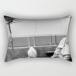 Grave with rose Rectangular Pillow